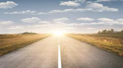 Road to horizon - stock footage
