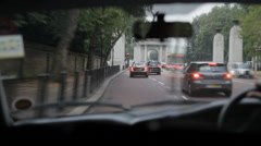 London Taxi Chelsea Stock Footage