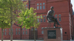 Ivor novello statue, cardiff bay, wales, uk Stock Footage