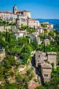 Stock Photo of gordes medieval village in southern france (provence)