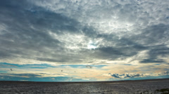Sunset over the Gulf of Finland  - May 2014. Stock Footage