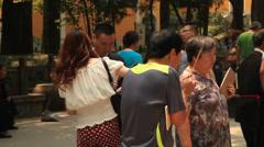 Lingyin Temple Hangzhou praying China 3 Stock Footage