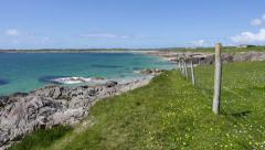 Clifden Bay, Ireland Stock Footage