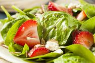 Stock Photo of organic healthy strawberry balsamic salad