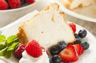 Stock Photo of homemade angel food cake