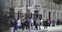 General public outside Downing Street 4K Stock Footage
