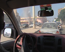 LIBYA - rabbish in the streets of Tripoli during the war - stock footage