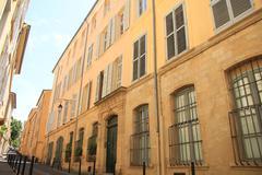 street in aix en provence - stock photo