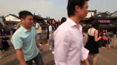 Qibao Canal bridge China 2 30 Stock Footage