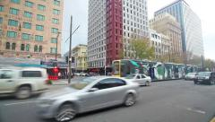 Video of the King William Street in Adelaide, South Australia Stock Footage