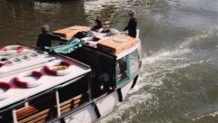 Bristol Ferry heading in watershed Stock Footage