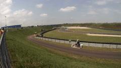 Cameraman follows racers at GT Masters race Stock Footage