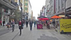 People in Rundle Mall in Adelaide, Australia Stock Footage