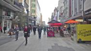 Stock Video Footage of People in Rundle Mall in Adelaide, Australia on Jun 19, 2014