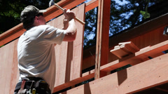 Carpenter building deck Arkistovideo