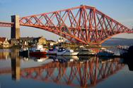 Stock Photo of forth bridge marina