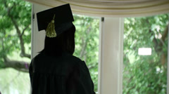 College student books book classes grad graduate Stock Footage
