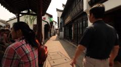 Qibao alley 5 30 Stock Footage