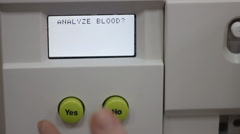 Analysis of blood: blood test Stock Footage