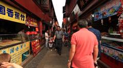 Qibao crowded market 2 30 Stock Footage