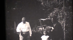 vintage 16mm, 1931 family movies, grandparents - stock footage