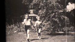 Vintage 16mm, 1931 family movies, bathing  suits Stock Footage