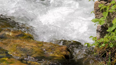 MREZ 23 Clean fresh sparkling water flowing over green rocks 2 Stock Footage