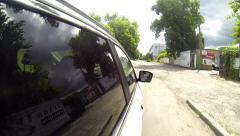 Driving a car POV. Right side reference. - stock footage