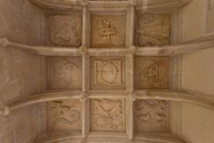 symbolic coffered ceiling - stock photo