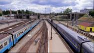 Stock Video Footage of The toy railway (tilt-shift)