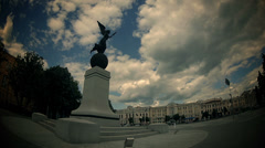 The flying Goddess monument (time lapse) Stock Footage