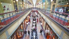 People shopping in Adelaide Arcade Stock Footage