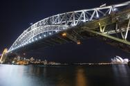 Stock Photo of Sydney Harbour Bridge with Opera House in the background