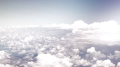 Flying through the clouds - stock footage
