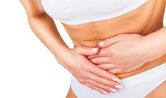 abdominal pain - stock photo