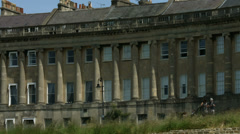 The Royal Crescent in the City of Bath CU. 4K Stock Footage