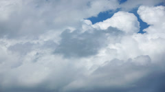 Thick Clouds Speed By Until Blue Sky Returns, Time Lapse Stock Footage