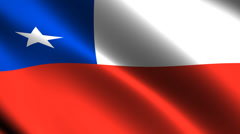 Chile flag waving in the wind. Looping animation Stock Footage