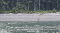 Deception Pass State Park Beach Washington State Stock Footage