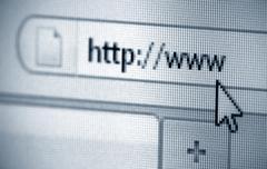 Internet address, computer screen Kuvituskuvat