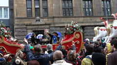 Stock Video Footage of karneval 2014 cologne carnival parade 2014 large float with symbols of cologn