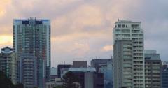 City skyline at sunset - 4K (UltraHD) Stock Footage