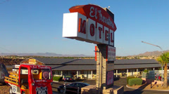 El Travatore Motel- Route 66- Kingman Arizona Stock Footage