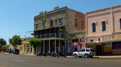 Historic Store Fronts, Hotel And Saloon On Route 66- Kingman AZ Stock Footage