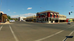 Intersection With Historic Buildings Downtown Kingman Arizona Stock Footage
