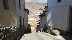 Stock Video Footage of Cusco street c