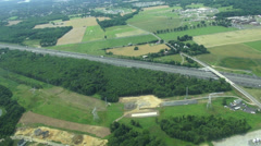 Aerial View of Roadway, Traffic, Cars - stock footage