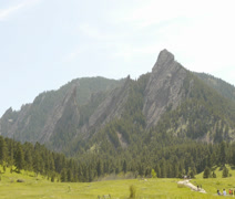 Flatirons in the Rocky Mountains of Boulder Colorado Stock Footage