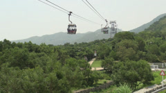 Cable cars passing each other Stock Footage