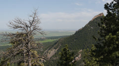 The Flatirons in Boulder Colorado - stock footage